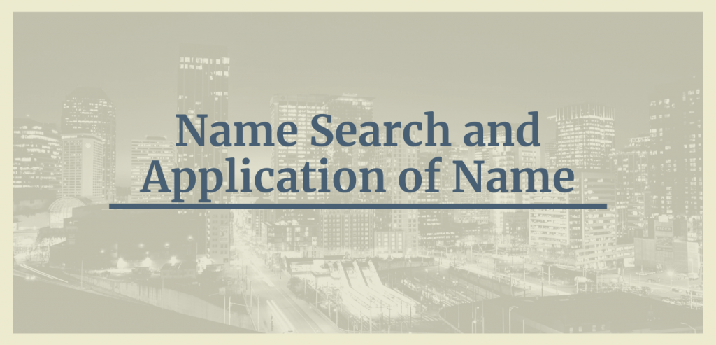 Name Search and Application of Name